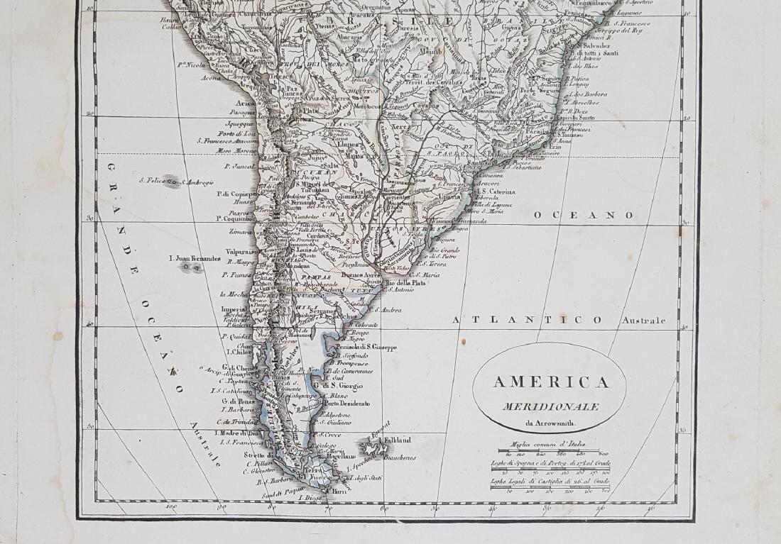 Map South America 1824 Arrowsmith - 4