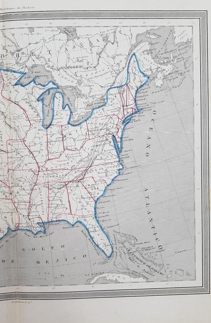Map United States 1853 Gaspar y Roig - 4
