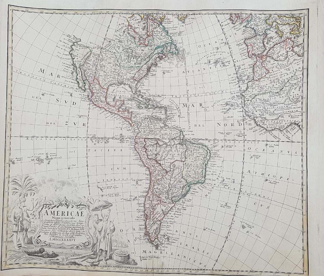 Map America 1746 Homann