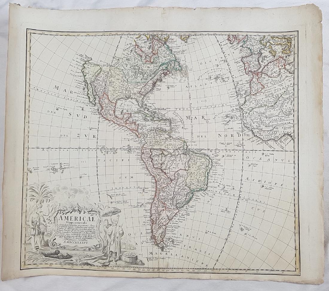 Map America 1746 Homann - 2