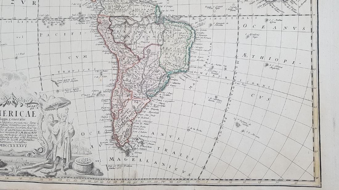 Map America 1746 Homann - 5