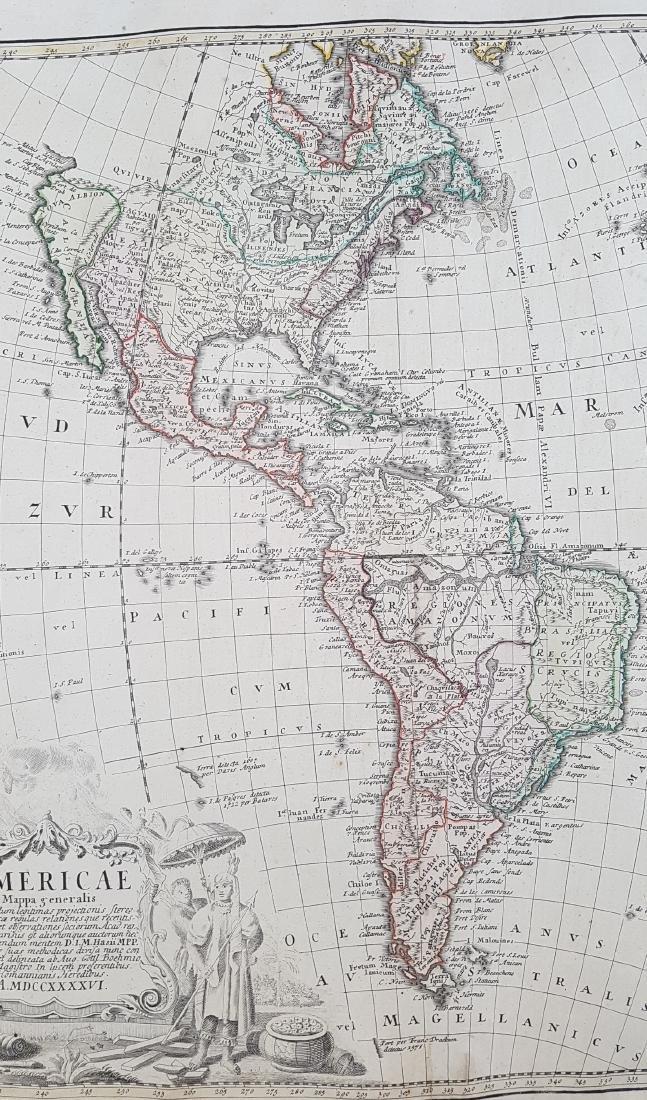 Map America 1746 Homann - 8