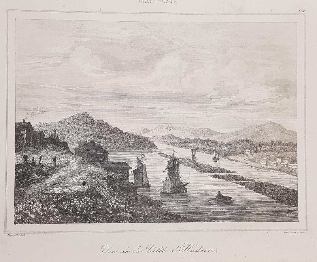 View Hudson City New Jersey 1838 Lemaitre