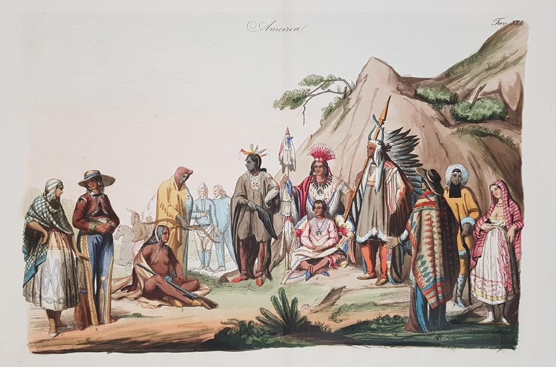 Native Indians North America 1845 Lago