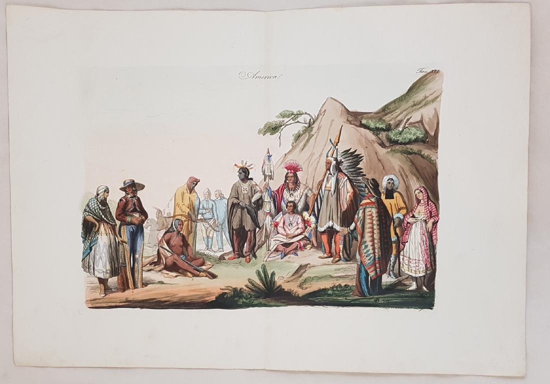 Native Indians North America 1845 Lago - 2