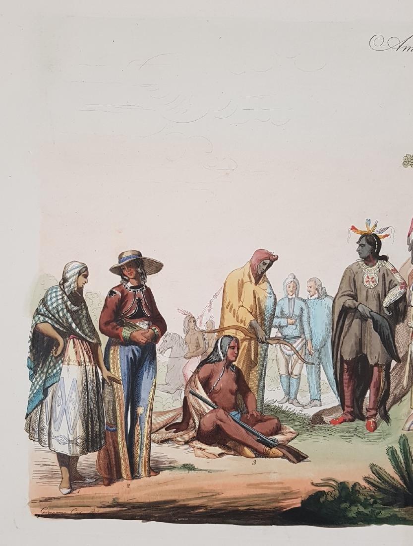 Native Indians North America 1845 Lago - 3