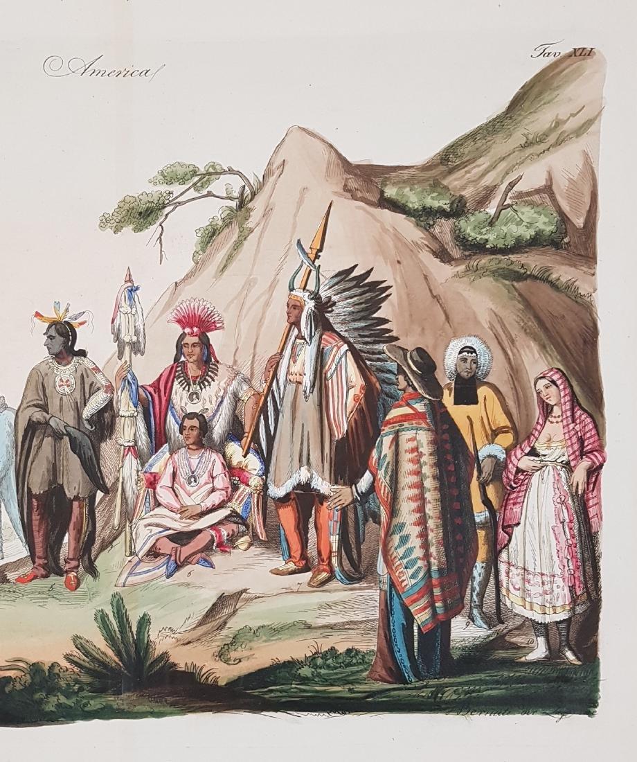 Native Indians North America 1845 Lago - 4