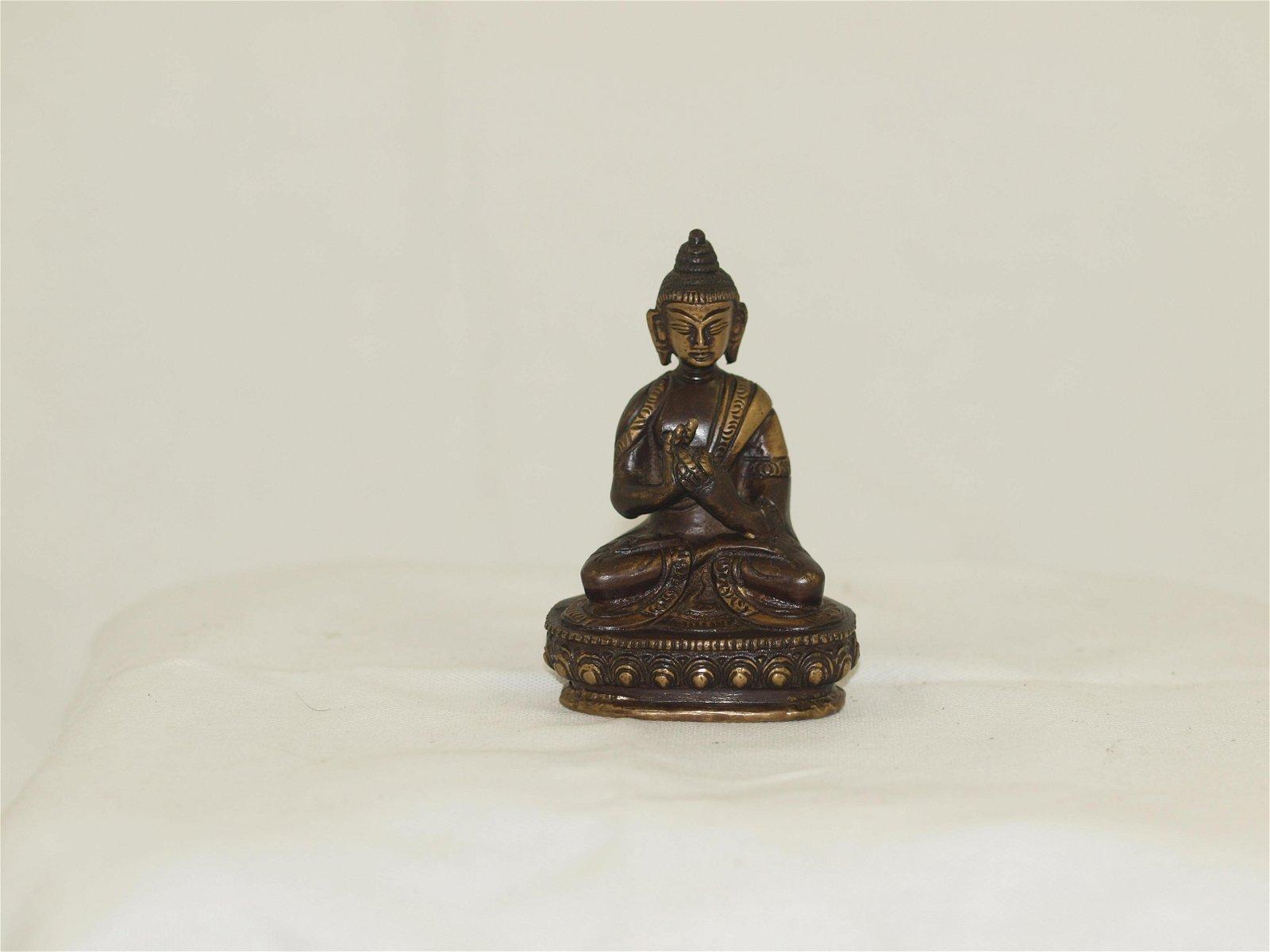 Bronze Buddha Shakyamuni India Nepal Early 20th