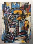 """""""Rostro"""" by Jean-Michel Basquiat"""