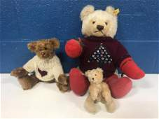 3 Mohair Teddy Bears (1 Steiff)