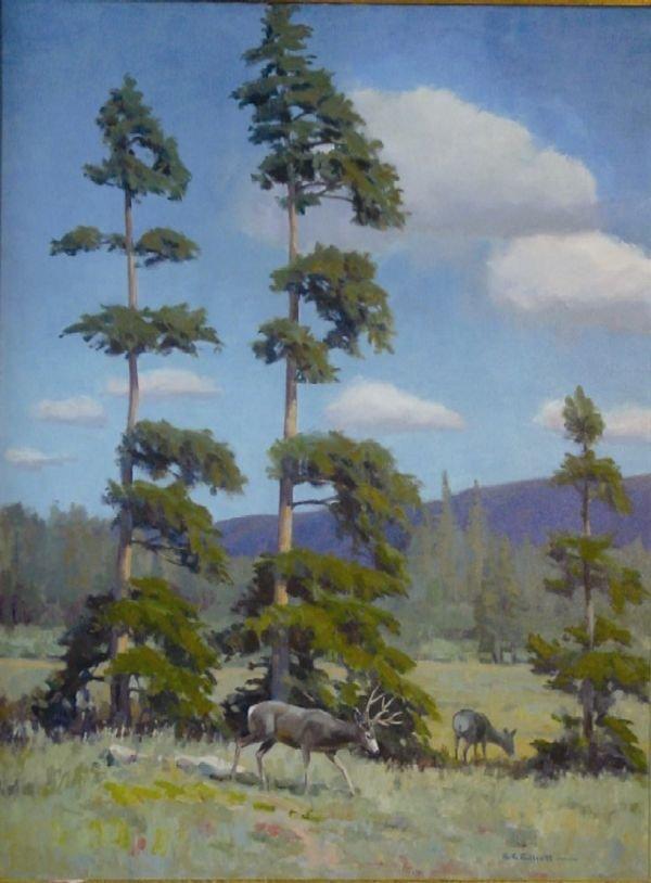 16: Deer by Tree by Elliot