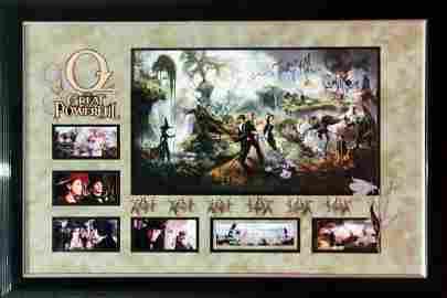 """OZ: GREAT & POWERFUL"" Cast signed large photo - Custom"