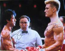Sylvester Stallone / Dolph Lundgren ROCKY 4 11x14 In