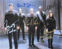 Star Trek Next Generation Cast 11x14 In Person Signed