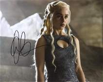 Emilia Clarke GAME OF THRONES In Person Signed Photo 2