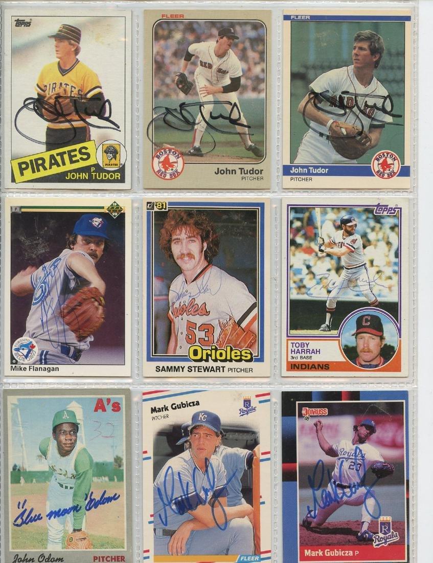 Lot Of 9 Signed Baseball Cards
