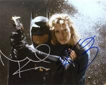 Michael Keaton / Kim Basinger BATMAN In Person Signed