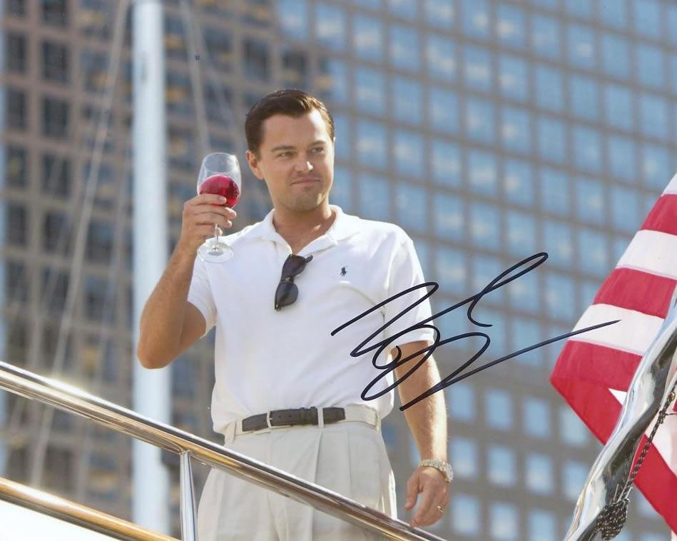 Leonardo DiCaprio THE WOLF OF WALL STREET In Person