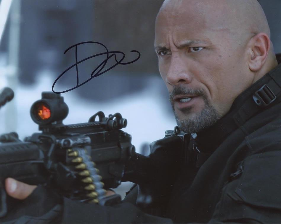 Dwayne Johnson FAST AND FURIOUS In Person Signed Photo
