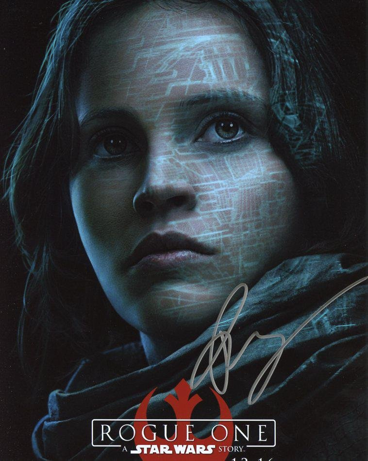 Felicity Jones STAR WARS ROGUE ONE In Person Signed