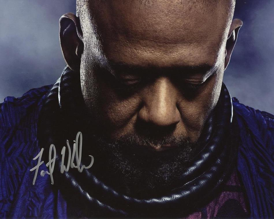 Forest Whitaker BLACK PANTHER In Person Signed Photo