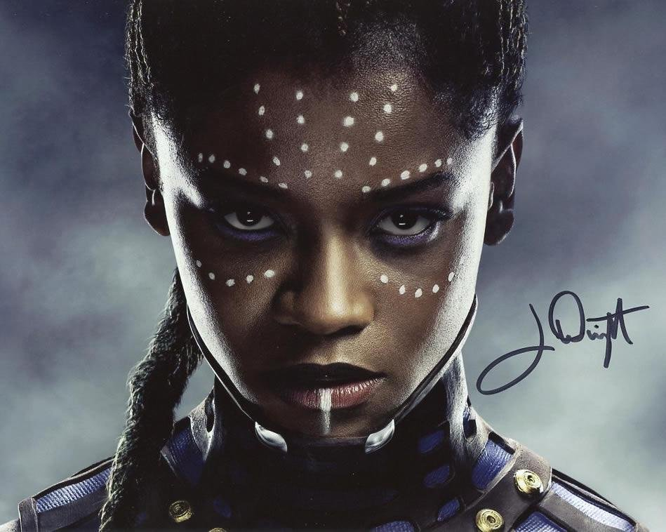 Letitia Wright BLACK PANTHER In Person Signed Photo