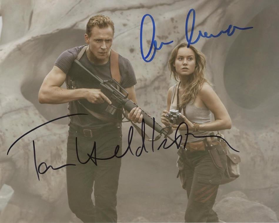 Hiddleston / Larson KING KONG In Person Signed Photo