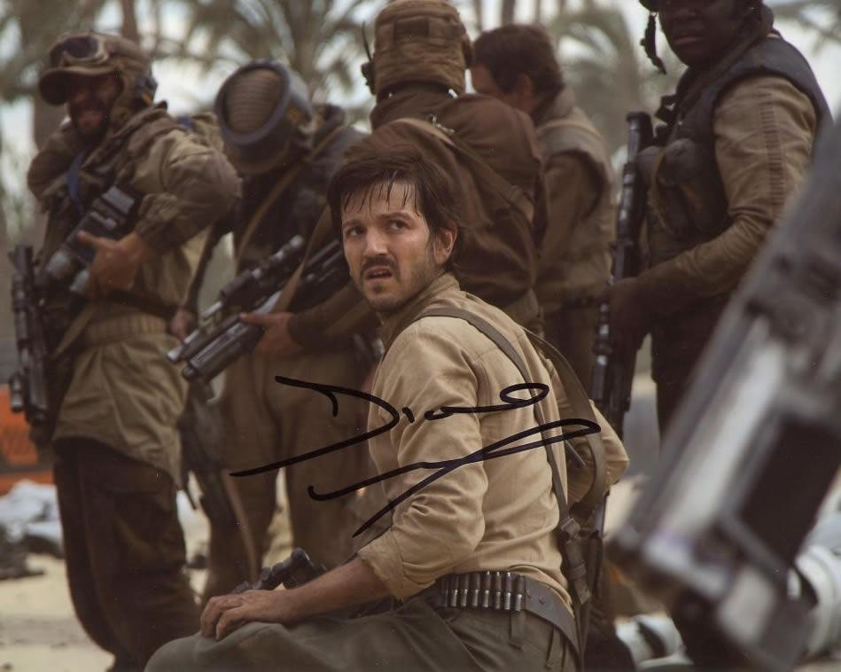 Diego Luna STAR WARS ROGUE ONE In Person Signed Photo