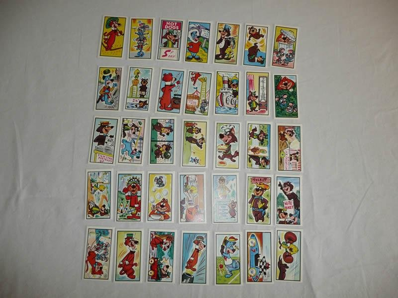 Lot of 35 Cards featuring Yogi Bear and Friends