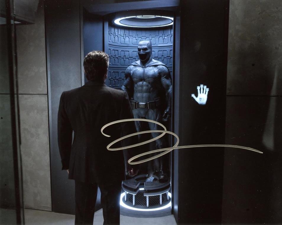 Ben Affleck BATMAN VS SUPERMAN In Person Signed Photo