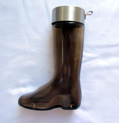 Vintage 1971 Avon Brown Glass Boot Cologne - Empty