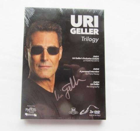 LIMITED Uri Geller 3 DVD AUTOGRAPHED Box Set