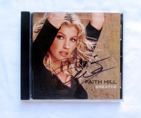 """Faith Hill """"Breath"""" Signed CD"""