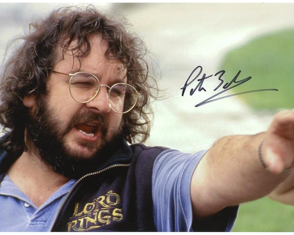 Peter Jackson LOTR DIRECTOR In Person Signed Photo