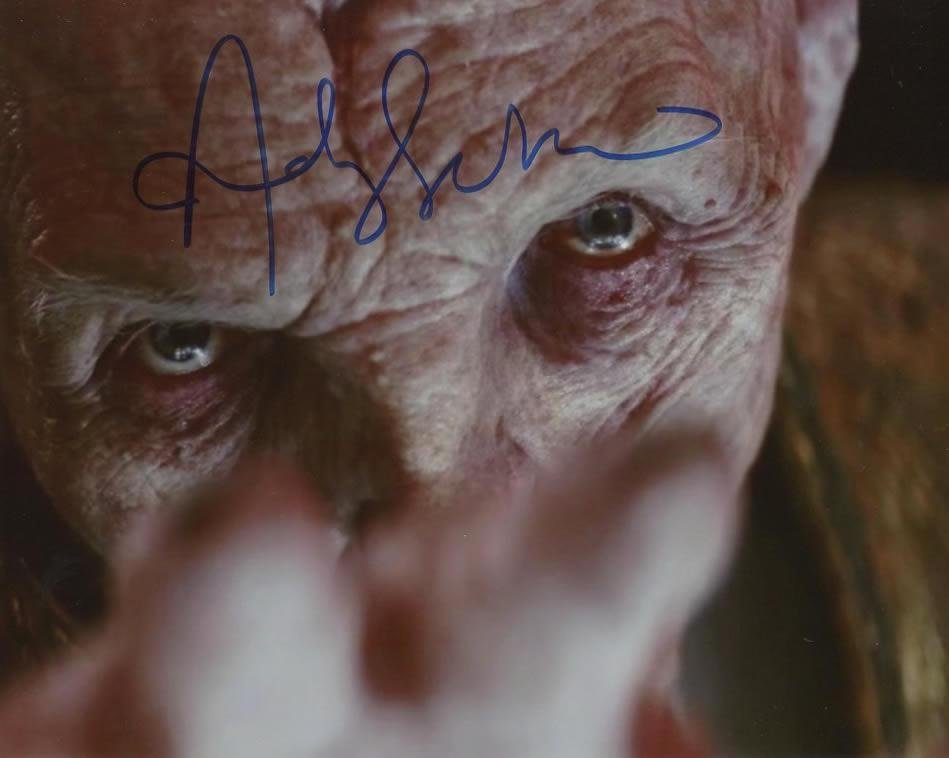 Andy Serkis STAR WARS THE LAST JEDI In Person Signed