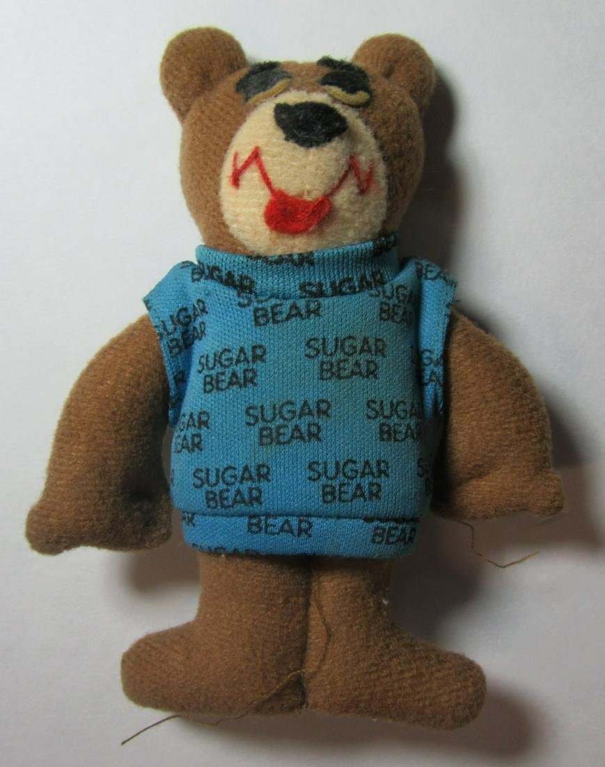 "Golden Crisps Cereal SUGAR BEAR 4"" Plush Stuffed Animal"