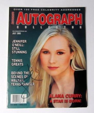 Alana Curry Signed Autograph Collector Magazine