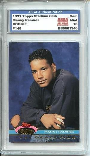 1991 Topps MINT 10 Manny Ramirez Indians Rookie Card