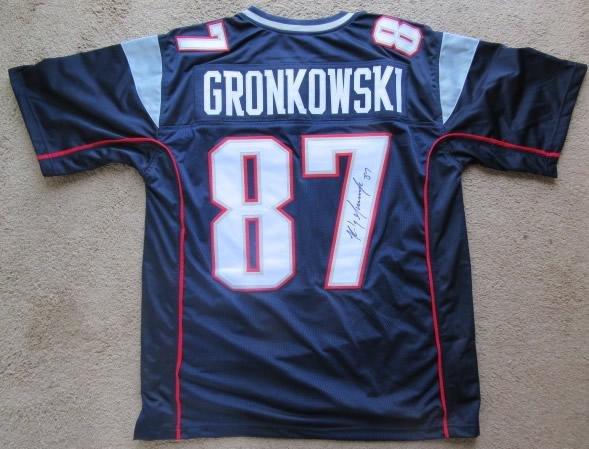 Rob Gronkowski NE Patriots Signed Autographed Jersey