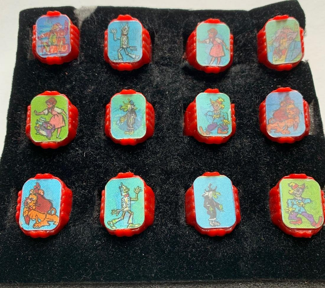 1967 Wizard Of Oz Gumball Flicker Rings COMPLETE SET