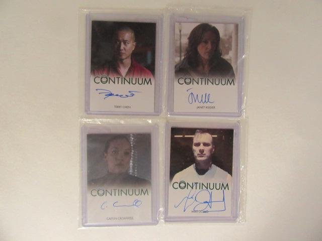 4 Continuum Autographed Non-Sport Cards