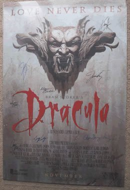 Brom Strokers Dracula Cast Signed Movie Poster