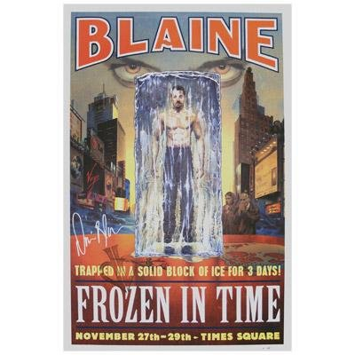 David Blaine Frozen In Time Autographed Poster (Limited