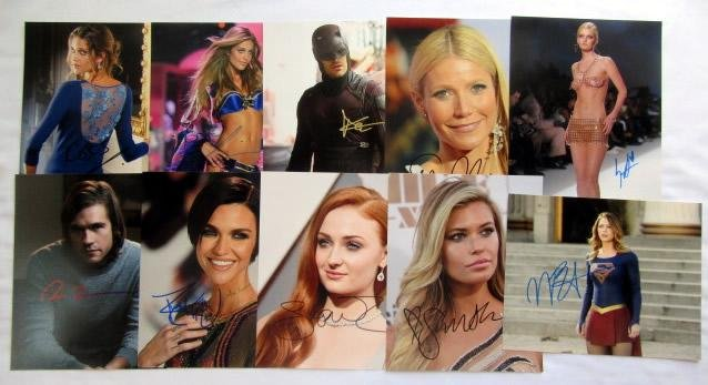 10 In Person Signed Photo Lot #5
