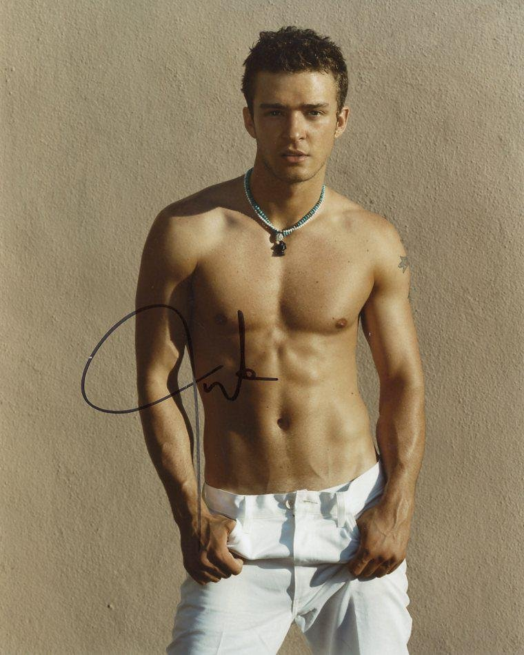 Justin Timberlake In Person Signed Photo