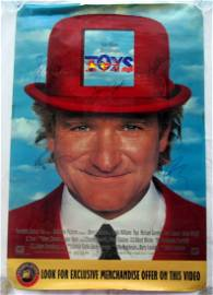 TOYS Robin Williams Cast Signed Poster