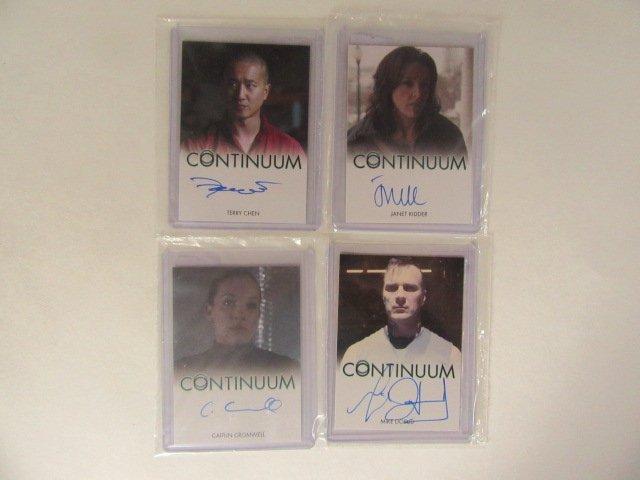 4 Continuum Autographed Non-Sport Cards