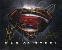 Man Of Steel Superman 8x10 Signed by 4