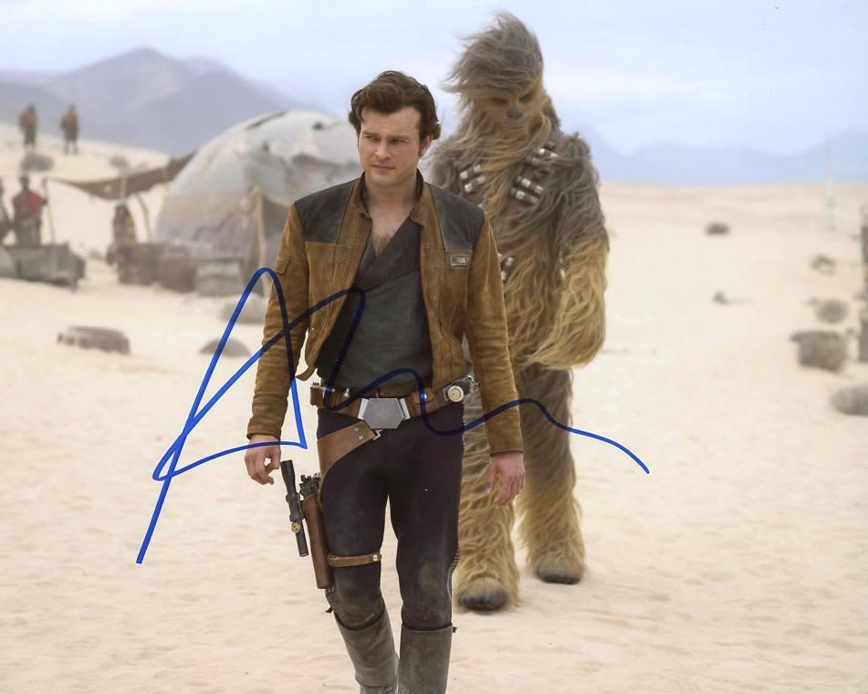 Alden Ehrenreich from the movie SOLO A STAR WARS STORY