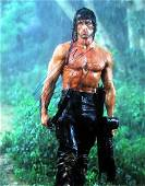 Sylvester Stallone RAMBO 11 X 14 In Person Signed Photo